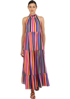 Borgo de Nor Striped Cotton Poplin Maxi Dress
