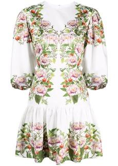Borgo de Nor Tabi peony-print dress
