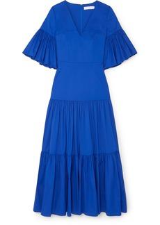 Borgo de Nor Teodora Cotton-blend Poplin Maxi Dress