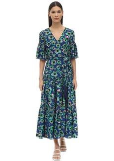 Borgo de Nor Teodora Floral Print Techno Crepe Dress