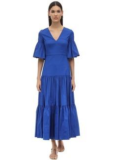 Borgo de Nor Teodora Ruffled Cotton Poplin Dress