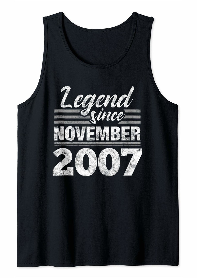 Born 12th Birthday Gift Legend Since November 2007 Tank Top