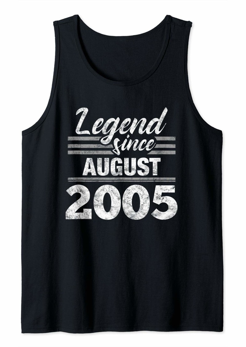 Born 14th Birthday Gift Legend Since August 2005 Tank Top