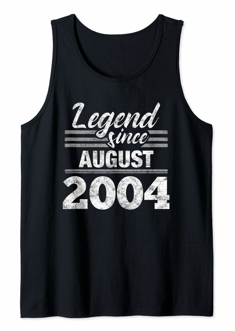 Born 15th Birthday Gift Legend Since August 2004 Tank Top