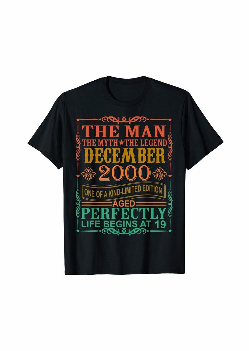 Born 2000 Man Myth Legend December 19th Bday Gifts 19 yrs old T-Shirt