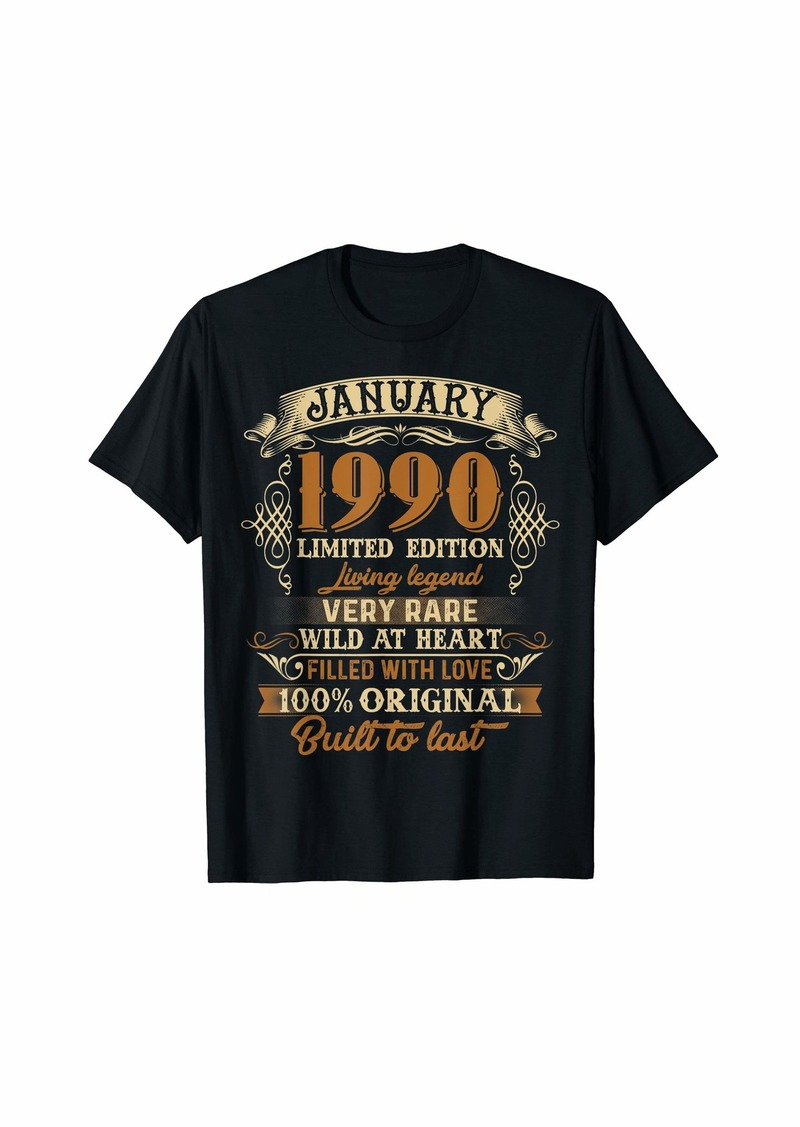Born 30th January 1990 Vintage Birthday Limited Edition T-Shirt