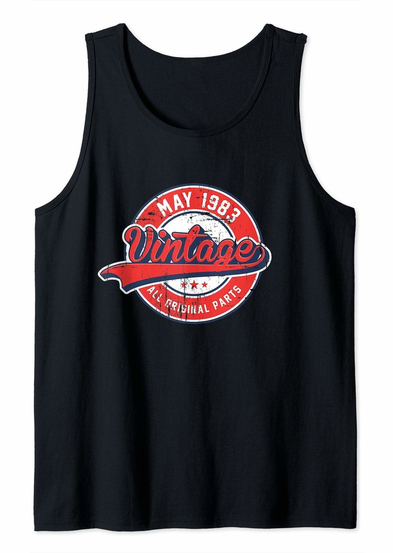 Born 36th Birthday Gift Vintage Retro May 1983 Tank Top