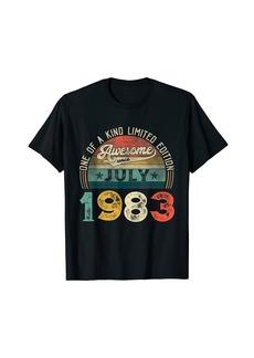Born 38th Birthday Decorations July 1983 Men Women 38 Years Old T-Shirt
