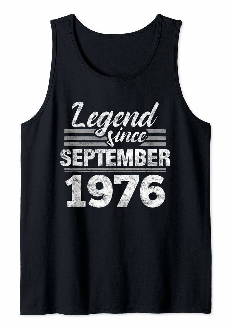 Born 43rd Birthday Gift Legend Since September 1976 Tank Top
