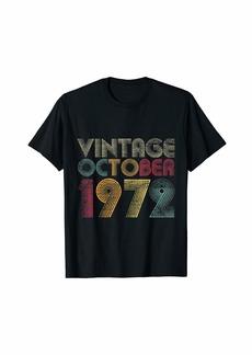 Born 47th Birthday Gifts - Vintage October 1972 T-Shirt