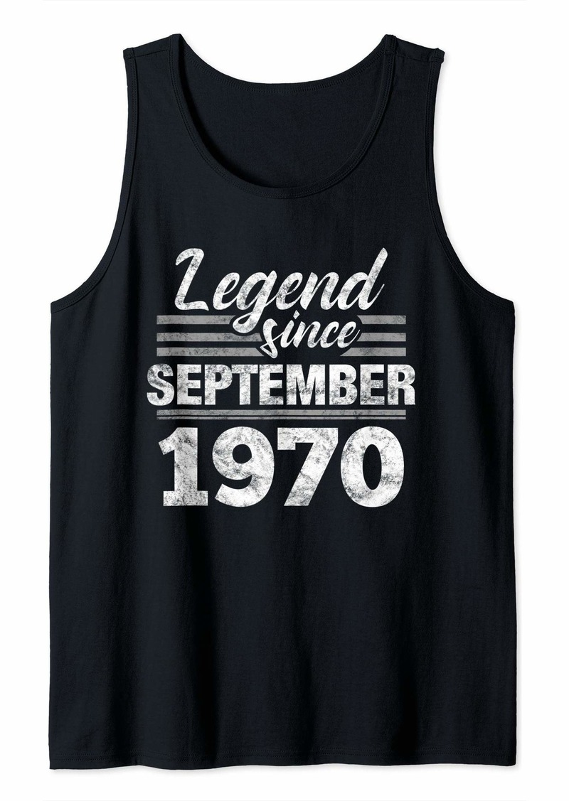 Born 49th Birthday Gift Legend Since September 1970 Tank Top
