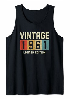 Born 60 Year Old Gifts Vintage 1961 Limited Edition 60th Birthday Tank Top