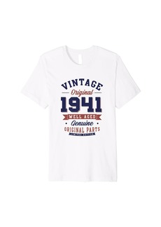 80th Birthday gift Vintage born in 1941 Aged 80 years old Premium T-Shirt