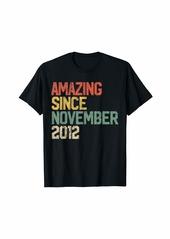 Born Amazing Since November 2012 7th Birthday Gift 7 Year Old T-Shirt