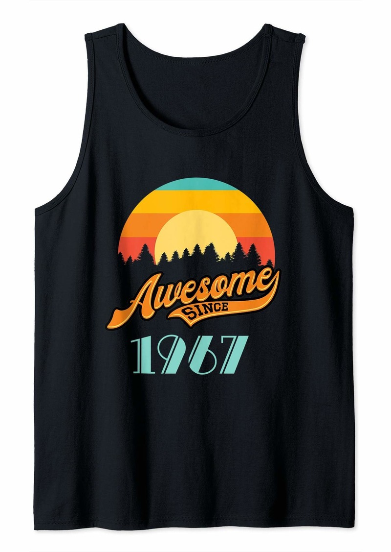 Born Awesome since 1967 - Year of Birth & Birthday Gift Tank Top