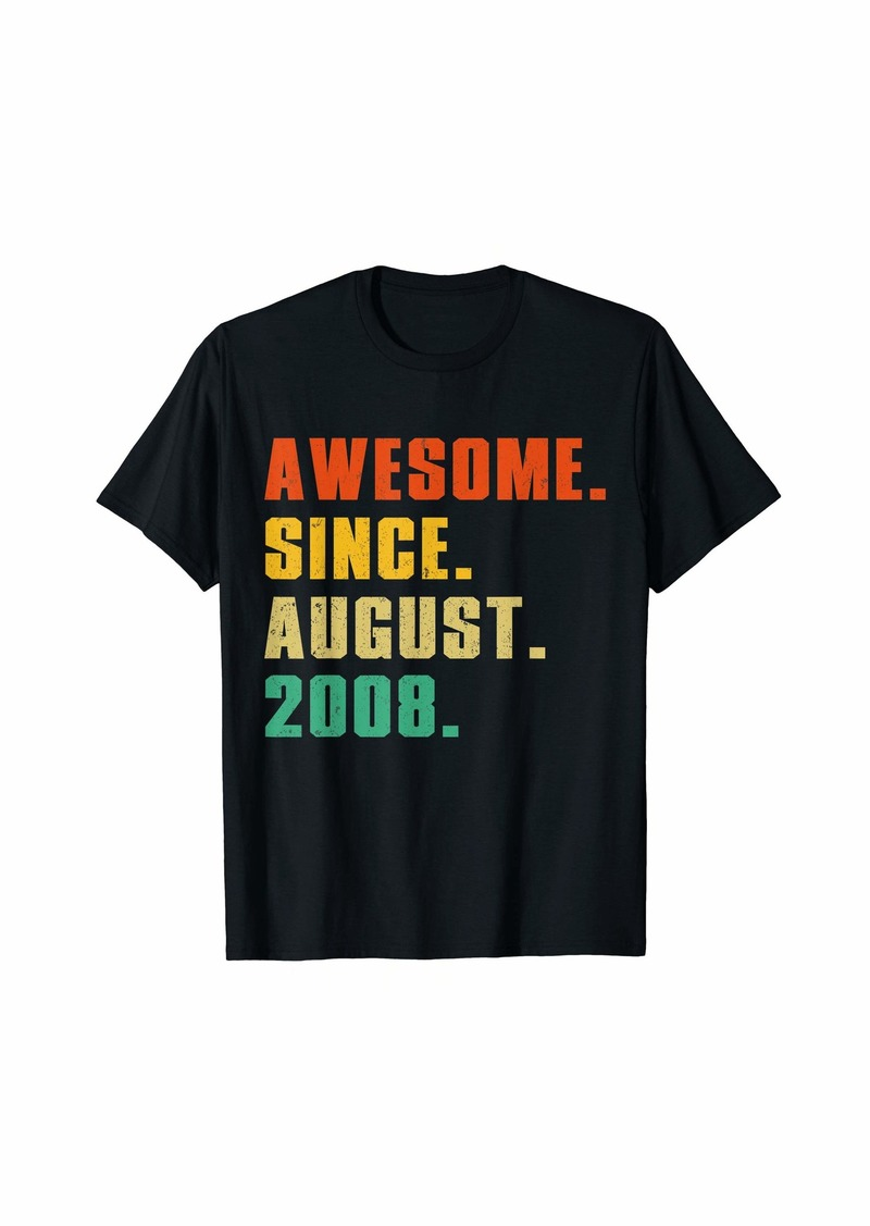 Born Awesome Since August 2008 11th Birthday Gift Shirt
