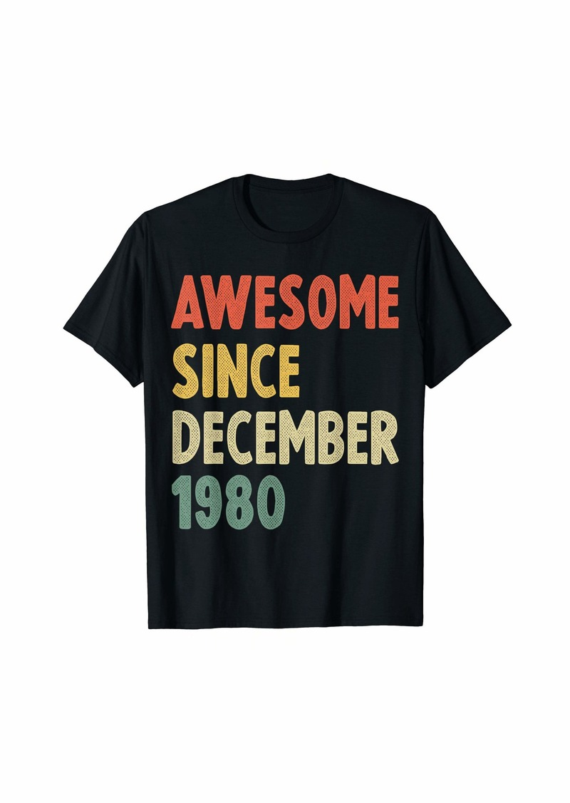 Born Awesome Since December 1980 39th Birthday Gift 39 Year Old T-Shirt