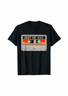 Born Best Of 1983 37th Birthday Gifts Cassette Tape Vintage T-Shirt