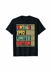 Born 1992 Limited Edition T-Shirt 27th  Birthday Gifts T-Shirt