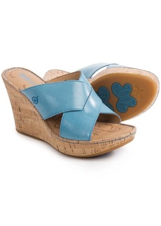 Born Adrianna Wedge Sandals - Leather (For Women)