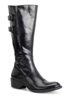 Born Berry Leather Riding Boots