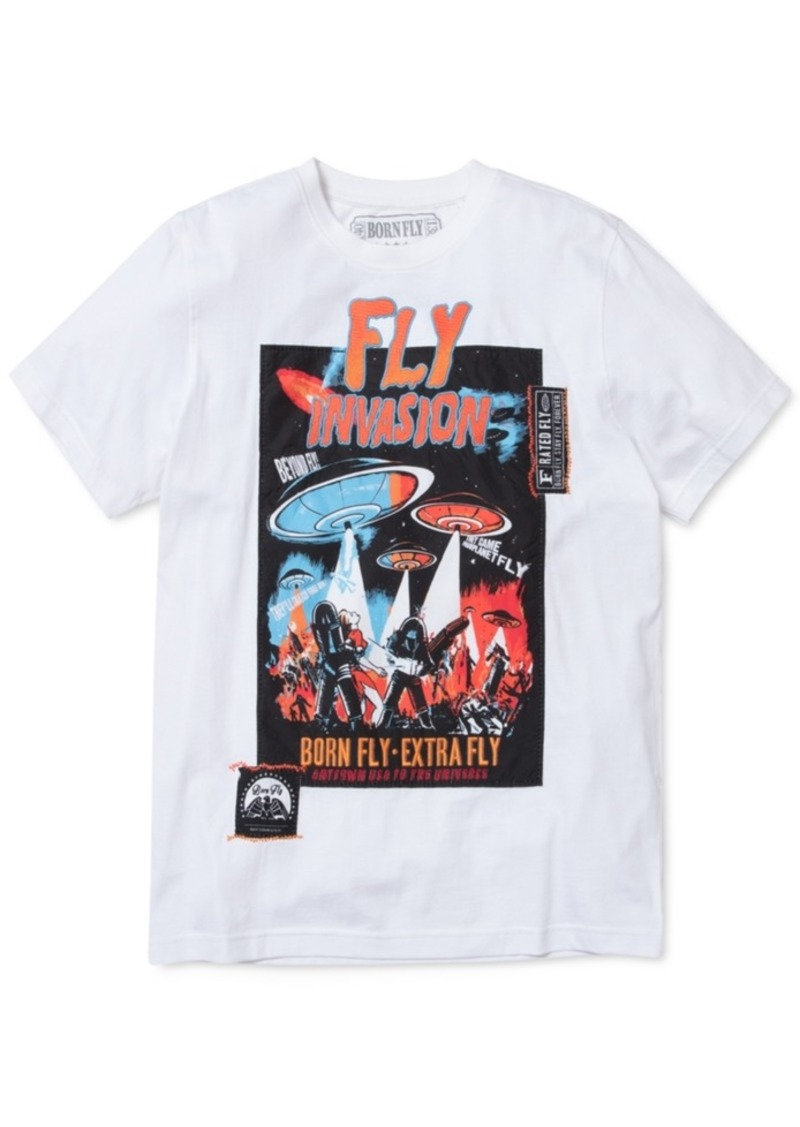 Born Fly Men's Bates Mix-Media Graphic T-Shirt