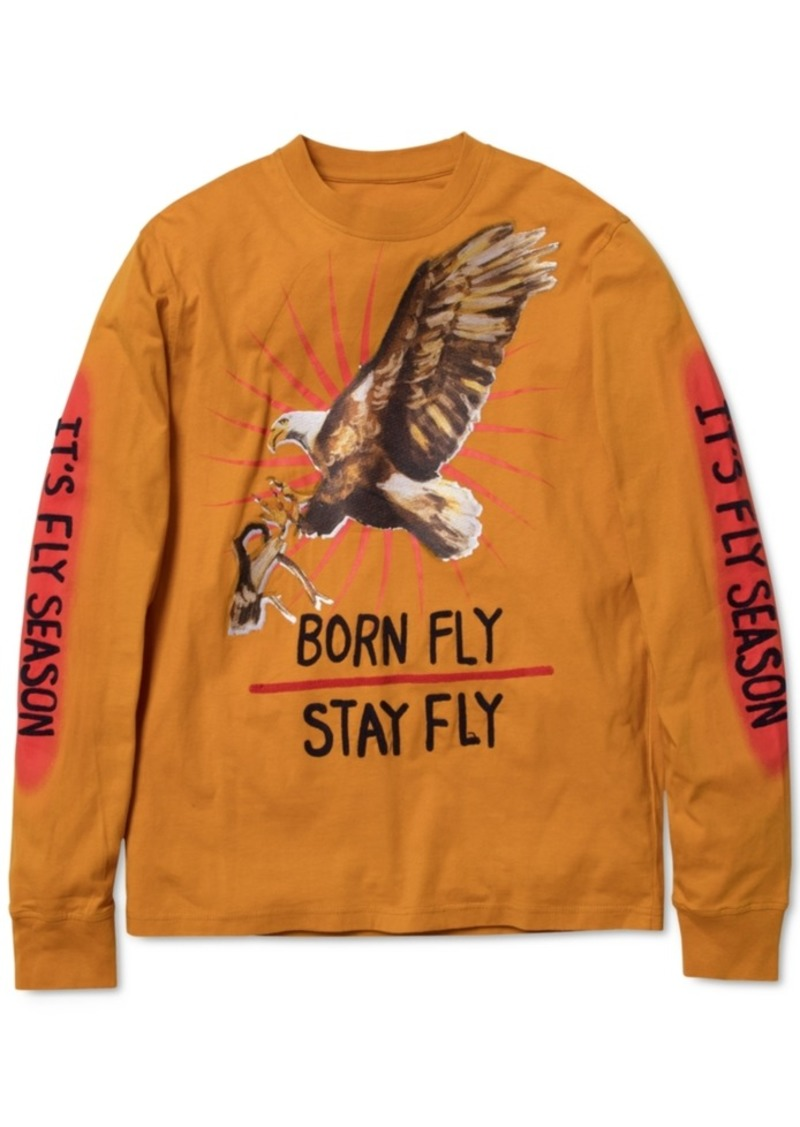Born Fly Men's Graphic Long-Sleeve T-Shirt