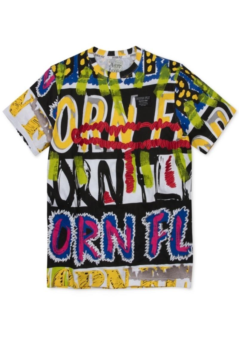 Born Fly Men's Slim-Fit Graffiti T-Shirt