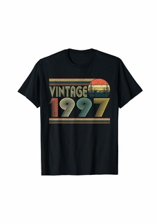 Born In 1997 Retro Vintage 24th Birthday Gifts 24 Years Old T-Shirt
