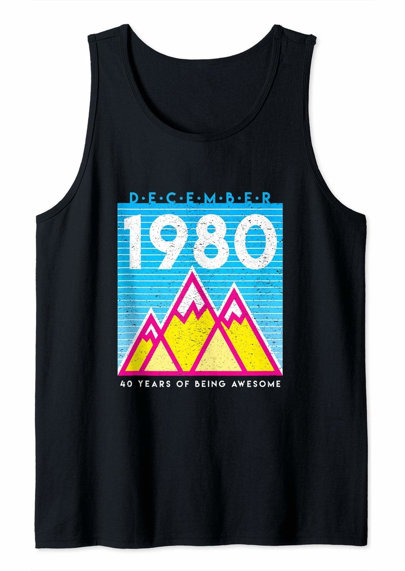 Born in December 1980 Awesome 40th Birthday Graphic Tank Top