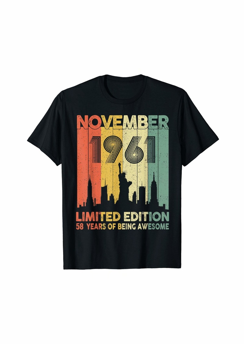 Born In November 1961 Limited Edition - 58th Birthday Gift T-Shirt