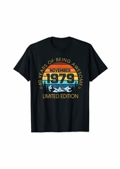 Born In November 1979 Limited Edition - 40 st Birthday Gift T-Shirt
