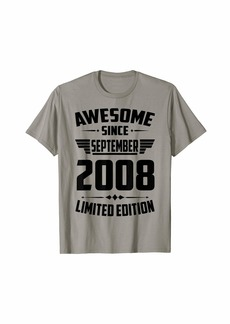 Born In September 2008 11th Birthday Gift 11 Years Old T-Shirt