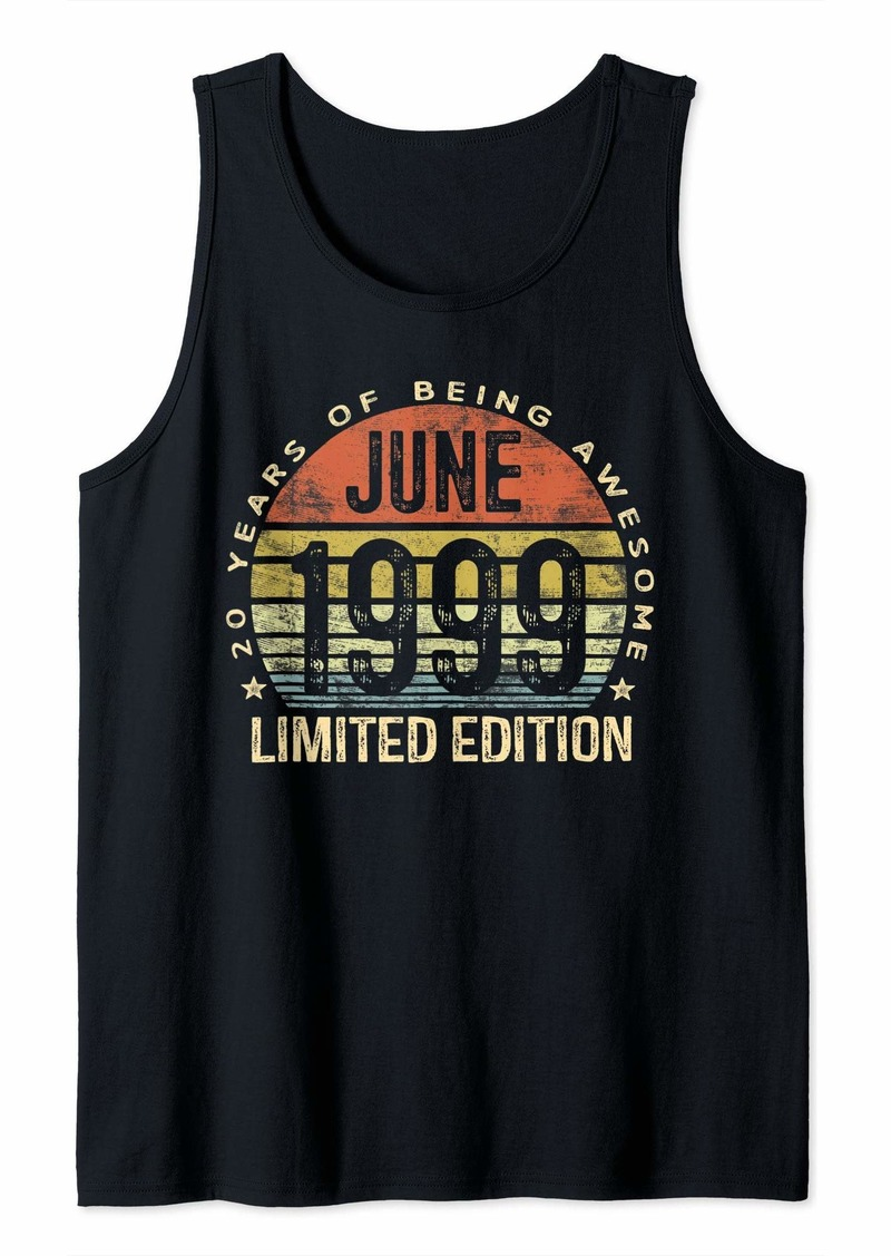 Born June 1999 Limited Edition BDay Gifts 20th Birthday Tank Top