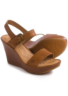 Born Lenore Wedge Sandals - Leather (For Women)