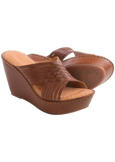 Born Millia Wedge Sandals - Leather (For Women)