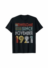 Born November 1921 Awesome 98 Years Old 98th Bday Gifts T-Shirt