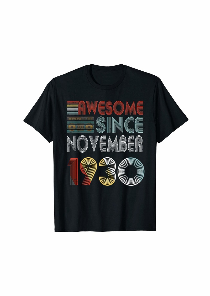 Born November 1930 Awesome 89 Years Old 89th Bday Gifts T-Shirt