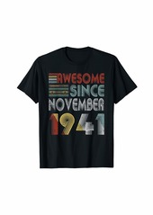 Born November 1941 Awesome 78 Years Old 78th Bday Gifts T-Shirt
