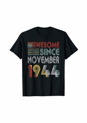 Born November 1944 Awesome 75 Years Old 75th Bday Gifts T-Shirt