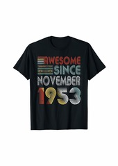 Born November 1953 Awesome 66 Years Old 66th Bday Gifts T-Shirt