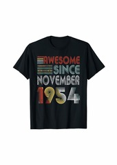 Born November 1954 Awesome 65 Years Old 65th Bday Gifts T-Shirt