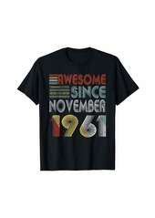 Born November 1961 Awesome 58 Years Old 58th Bday Gifts T-Shirt