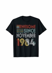 Born November 1984 Awesome 35 Years Old 35th Bday Gifts T-Shirt