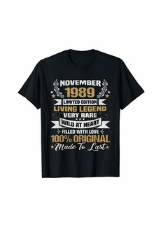 Born November 1989 Limited Edition Bday Gifts 30th Birthday T-Shirt