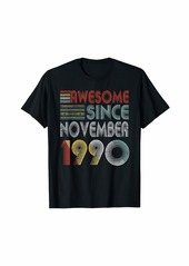 Born November 1990 Awesome 29 Years Old 29th Bday Gifts T-Shirt