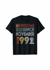 Born November 1992 Awesome 27 Years Old 27th Bday Gifts T-Shirt