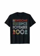 Born November 2002 Awesome 17 Years Old 17th Bday Gifts T-Shirt