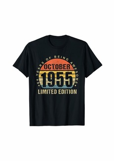 Born October 1955 Limited Edition Bday Gifts 64th Birthday T-Shirt