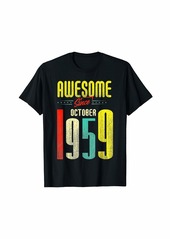 Born October 1959 60th Birthday - Awesome Since October 1959 T-Shirt